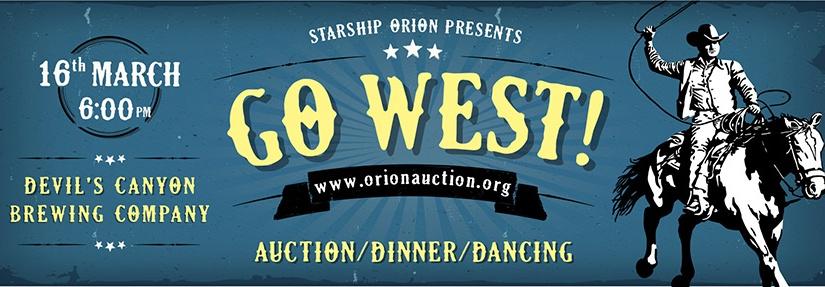 """Orion """"Go West""""Auction!"""